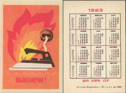 USSR. 1983. Fire Safety. Iron. Fer à Repasser - Petit Format : 1981-90