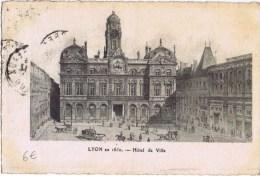 Cpa  LYON  En 185   Hotel De Ville - Lyon