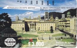 TARJETA DE COLOMBIA DE TELECOM DE $3000 PALACIO NARINO EN BOGOTA - Colombia