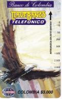 TARJETA DE COLOMBIA DE TELECOM DE $3000 BANCO DE COLOMBIA (AGUILA-EAGLE) - Colombia
