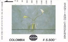 TARJETA DE COLOMBIA DE TELECOM DE $5500 MAESTROS DE LA PINTURA (SANTIAGO CARDENAS) DOS CARTUCHOS SOBRE VERDE - Colombia