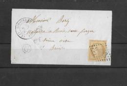 10c , N° 36 Seul Sur Lettre En Aout 1971 De Limours En Hurepoix - 1849-1876: Classic Period