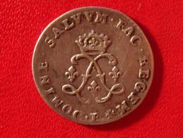 4 Sols Aux Deux L Couronnés Louis XIV 1693 E Tours 3319 - 987-1789 Monnaies Royales