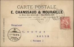 13 - MARSEILLE - Carte Lettre - Société CHANSSAUD ET MOURAILLE - Marseille