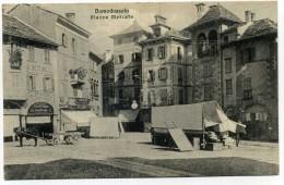 CARTOLINA VIAGGIATA DOMODOSSOLA (PIAZZA MERCATO) - Altre Città