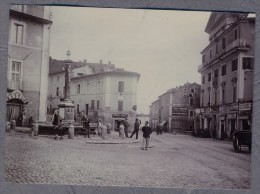 ARICCIA ROMA Place GENZANO ITALIE ITALIA   Photo Originale XIX ème  Albuminée A818 - Old (before 1900)