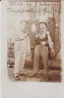 FETE---soirée Du 7 Février 1909---FLEUR D'OSEILLE ET CHOU FLEURI---carte Photo ---voir 2 Scans