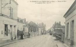 """.CPA  FRANCE 41 """"Saint Georges Sur Cher, Route De Bléré Et Rue De La Poste"""" - Autres Communes"""