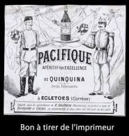 Bon à Tirer Ancien D´étiquette PACIFIQUE, Apéritif De QUINQUINA, à ÉGLETONS (Corrèze). Voir 2 Photos. État Moyen. - Etiquettes