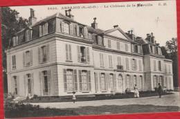91 ARPAJON - Chateau De La Norville (avec Une Faute) - Animation : Nurse Avec Landau... Voyagée - DIFFERENTE ! TBE - R/V - Arpajon