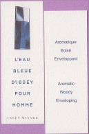 Marque-page °° Parfum Eau Bleue D'Issey Homme °-°  4 X 12 - Marque-Pages