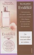 Marque-page °° Parfum Y.Rocher Comme Une Evidence Floral Vert Chypré °-°  5 X 16 - Marque-Pages