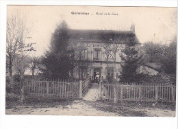 25124  (51) - Germaine - Hotel De La Gare - Ed ? Cl Mulot, Reims -café
