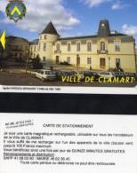 CARTE DE STATIONNEMENT MAGNETIQUE  Ville De Clamart  L'HOTEL De VILLE - Tarjetas De Estacionamiento (PIAF)