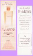 Marque-page °° Parfum Y.Rocher Clair Comme Une Evidence Floral Vert Chypré  °-°  5 X 16 - Marque-Pages