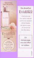 Marque-page °° Parfum Y.Rocher Clair Foncé Fleur Comme Une Evidence Floral Vert Chypré  °-°  5 X 16 - Marque-Pages