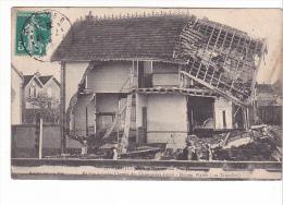 25128 TROYES - PENDANT INONDATION 1910    MAISON ECROULEE CHEMIN Loges Walter Taurelles -22 S Grixon - - Troyes