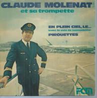 """45 Tours SP -  CLAUDE MOLENAT   - FCM 451 - """" EN PLEIN CIEL, LE... """" + 1 ( PILOTE D'AIR FRANCE ) - Vinyl Records"""