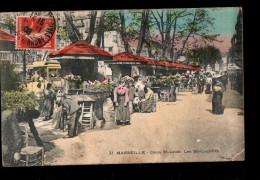 13 MARSEILLE Cours St Louis, Bouquetières, Fleuristes, Colorisée, Métier, Ed LR 22, 1908 - Petits Métiers