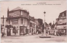 Calvados :  PONT  L  EVEQUE  : Vue    Carrefour  Saint  Melaine  Vers  Trouville  (  Chocolat-boulanger) - France
