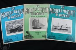 Le Modele Reduit De Bateau - Revue Bimestrielle - Nº 55, 160 & 161 - Boath, Battle Ships Model Kits - Antigüedades & Colecciones