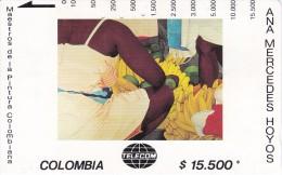 TARJETA DE COLOMBIA DE TELECOM DE $15500 MAESTROS DE LA PINTURA (ANA MERCEDES HOYOS) BAZURTO - Colombia