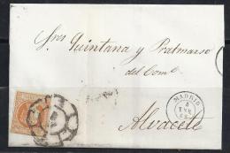 ESPAÑA 1862. ENVUELTA - 1850-68 Reino: Isabel II