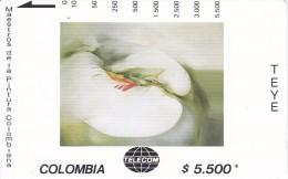 TARJETA DE COLOMBIA DE TELECOM DE $5500 MAESTROS DE LA PINTURA (TEYE) MELUS - Colombia