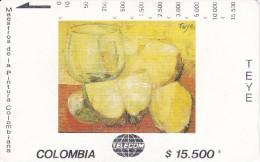 TARJETA DE COLOMBIA DE TELECOM DE $15500 MAESTROS DE LA PINTURA (TEYE) PIÑAS - Colombia