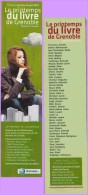 Marque-page °° Marque-page °° Printemps Du Livre 2013 Grenoble  °-°  5 X 21 - Marque-Pages