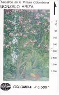 TARJETA DE COLOMBIA DE TELECOM DE $5500 MAESTROS DE LA PINTURA (GONZALO ARIZA) CASCADA - Colombia