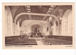 25137 RENNES - PENSIONNAT SAINTE GENEVIEVE - La Chapelle ( Religion Christianisme ) -ed Tourte Petitin