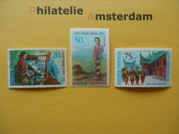 Indonesia 1971, TOURISM / VISIT ASEAN LANDS: Mi 685-87, ** - Indonesië