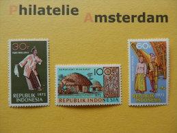Indonesia 1972, ARTS AND CULTURE: Mi 719-21, ** - Indonesia