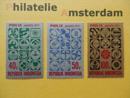 Indonesia 1977, SPORTS: Mi 874-76, ** - Indonesia