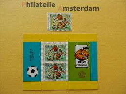 Indonesia 1982, WORLD CUP SPAIN 82 / FOOTBALL SOCCER VOETBAL FUSSBALL FUTBOL CALCIO: Mi 1059, + Bl. 44, ** - 1982 – Spain