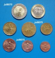 Série Complète 8 Pièces Monaco 2001 (1 Cent à 2 Euro) - Monaco
