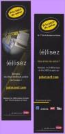 Marque-page °° Sncf - Prix Du Polar Elisez Les Deux Meilleurs  °-°  5 X 19 - Bookmarks