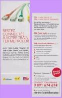 Marque-page °° Sncf - Restez Connectés à Votre TER Metrolor - Connecteurs TER Flash  °-°  6 X 17 - Marque-Pages