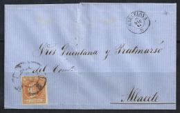 ESPAÑA 1864 - Envueltas Barcelona A Albacete - 1850-68 Reino: Isabel II
