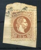 AUSTRIA FRAMMENTO 15kr - 1850-1918 Empire