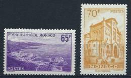 """Monaco YT 487 Et 488 """" Vues De La Principauté , Série 2 Valeurs """" 1957 Neuf ** - Monaco"""