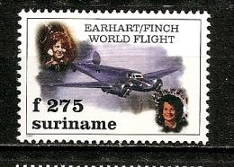 Surinam 1997 Earhart Avion Aviation Aeroplane MNH ** - Suriname