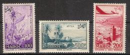 Maroc Aereo 100/102 * Serie Completa. 1955. Charnela - Marruecos (1891-1956)