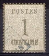 1870 - ALSACE LORRAINE - N° 1 (burelage Droit) - Oblitéré - Cote 120 - Alsace-Lorraine