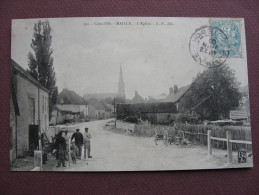 CPA 21 LES MAILLYS MAILLY Quartier De L'Eglise ANIMEE 1905 Canton AUXONNE - Autres Communes
