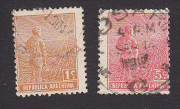 Argentina, Scott #208. 212, Used, Agriculture, Issued 1915 - Usati