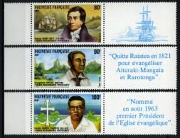 Polynésie Française - 1988 - Yvert N° 318 à 320 ** - Nuovi