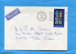 "MARCOPHILIE- Lettre-ST PIERRE -pour Françe-cad""orly Aeropport"" 1989- Stamps N°496 - Lettres & Documents"