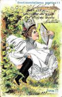 [DC4317] CARTOLINA - HUMOR - SENTIMENTALISMO POETICO - FORZA - Viaggiata - Old Postcard - Humor